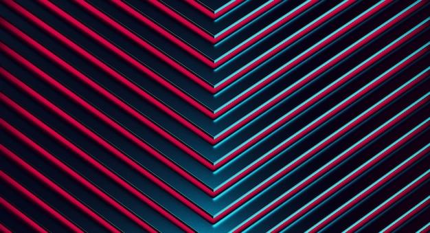 Sullo sfondo del modello di metallo blu astratto.