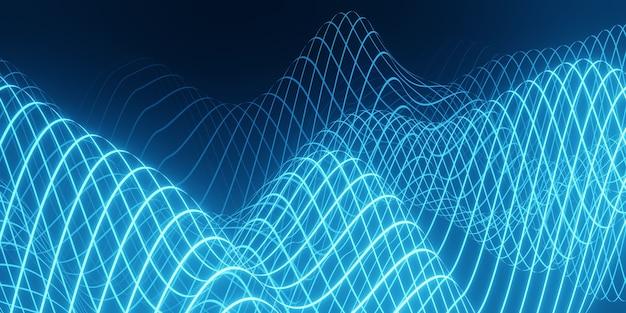 Sfondo astratto onda blu