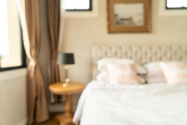 Sfocatura astratta interni camera da letto per lo sfondo