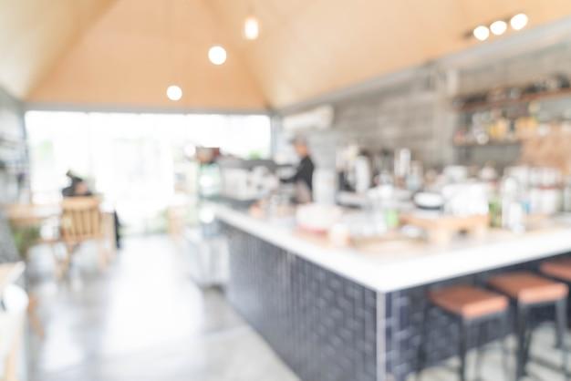 Sfocatura astratta nella caffetteria