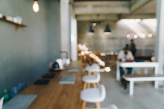 Sfocatura astratta caffetteria caffetteria e ristorante per lo sfondo