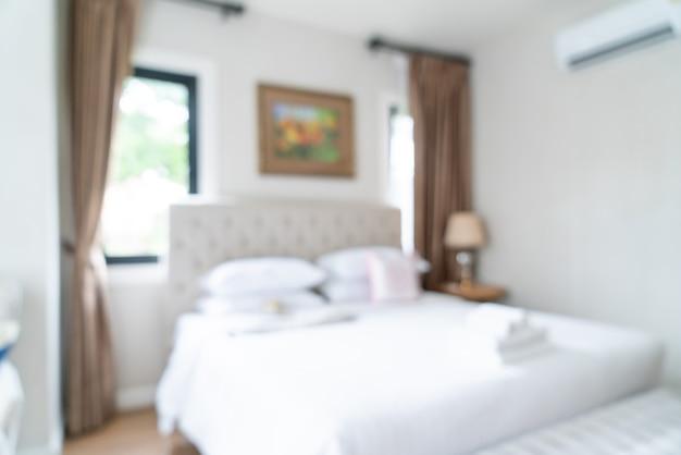 Sfocatura astratta e camera da letto sfocata per lo sfondo