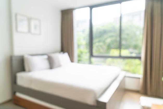 Sfocatura astratta e camera da letto resort hotel sfocato per lo sfondo