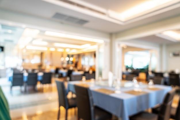 Sfocatura astratta e ristorante hotel sfocato per lo sfondo