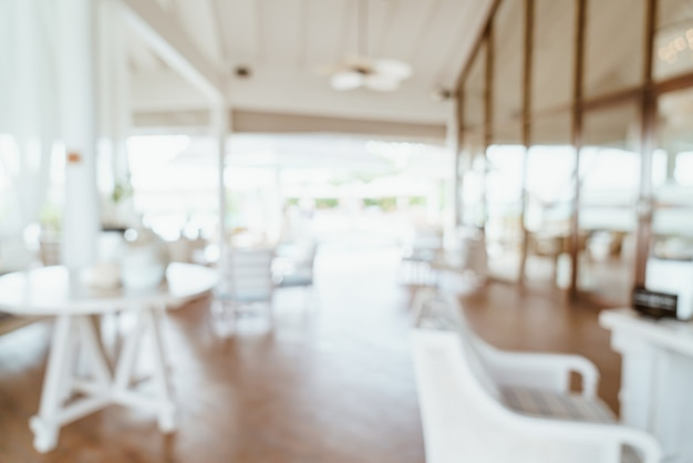 Sfocatura astratta e ristorante sfocato dell'hotel