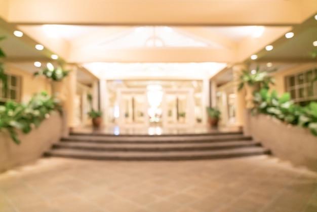 Sfocatura astratta e lobby dell'hotel di lusso sfocato per la superficie