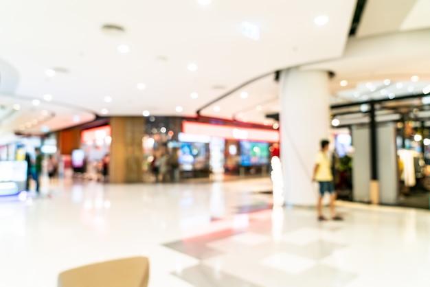 Sfocatura astratta e sfocato centro commerciale di lusso e negozio al dettaglio