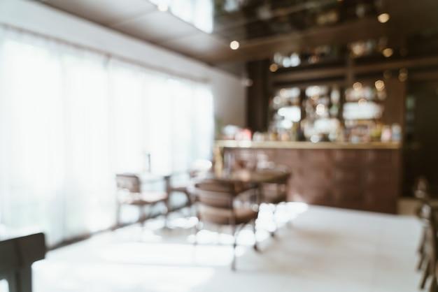 Sfocatura astratta e ristorante sfocato per lo sfondo