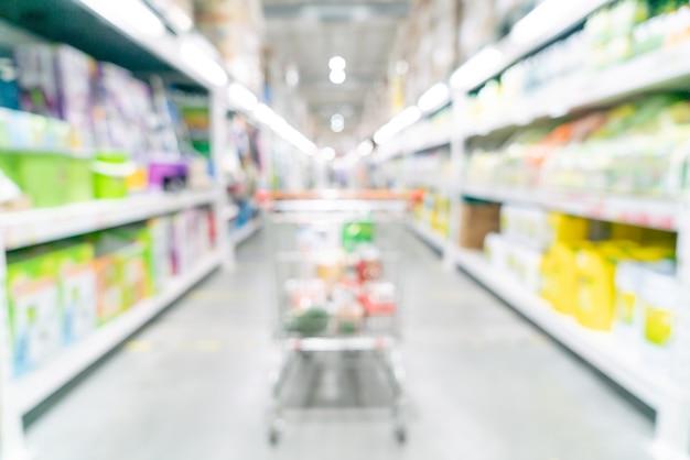 Sfocatura astratta e supermercato sfocato per la superficie