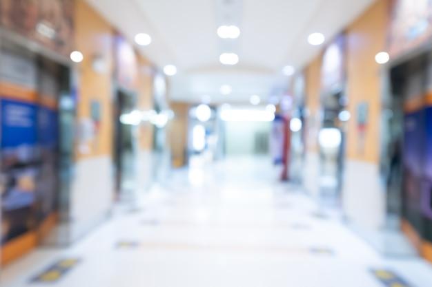 Sfocatura astratta ospedale e interni della clinica medica.