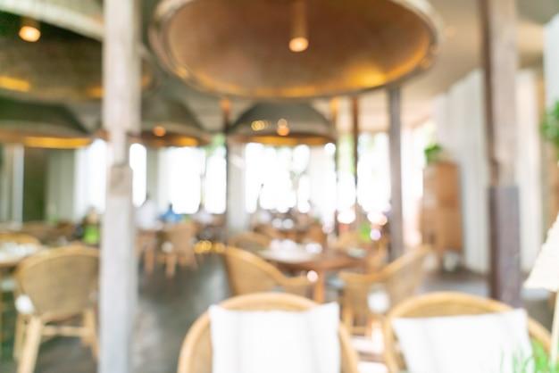 Sfocatura astratta hotel ristorante per lo sfondo