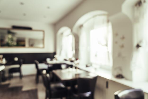 Sfocatura astratta nel ristorante dell'hotel