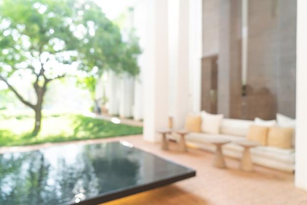 Sfocatura astratta lobby hotel per lo sfondo