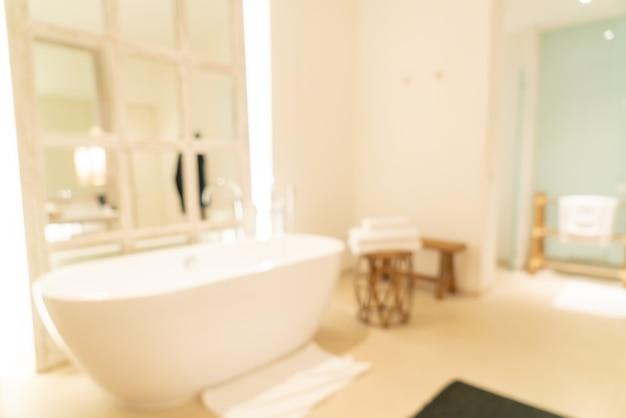Sfocatura astratta bagno di lusso in hotel resort per lo sfondo
