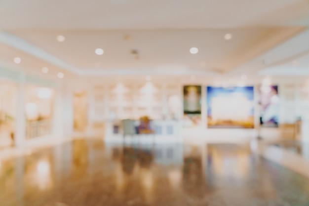 Astratto sfocatura lobby di hotel di lusso per lo sfondo