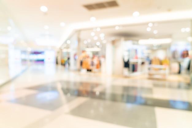 Sfocatura astratta negozio e negozio al dettaglio nel centro commerciale per lo sfondo