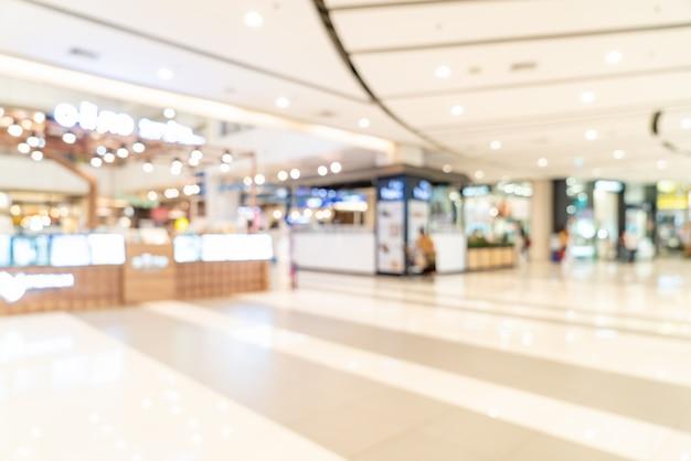 Centro commerciale astratto della sfuocatura