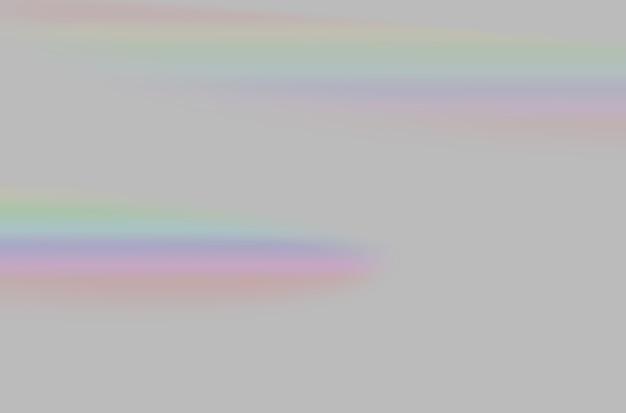Abstract di sfocato prisma arcobaleno sovrapposizione di luce su sfondo grigio per mockup e decorativo