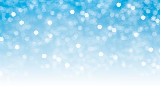 Fondo sfocato luminoso astratto del bokeh, scintillio festivo, gradiente blu e bianco