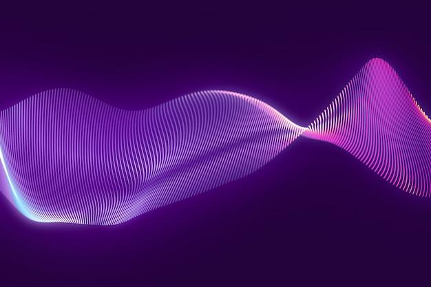 Priorità bassa viola di struttura dell'onda del cg astratto