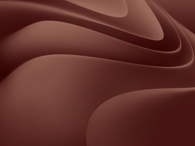 Fondo astratto del cioccolato con le linee ondulate lisce