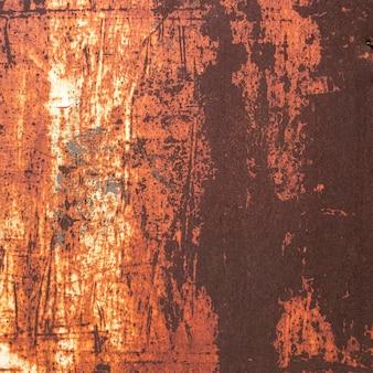 Primo piano astratto di carta da parati metallica arrugginita