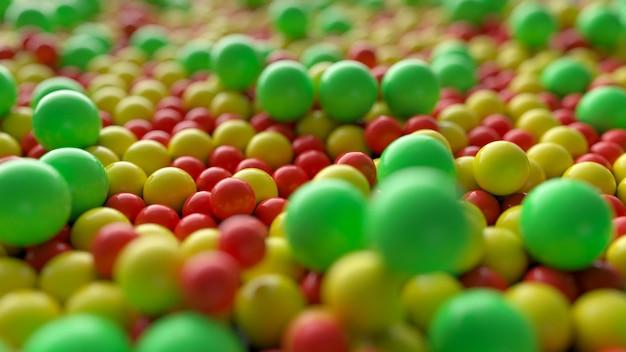 Sfere colorate astratte e palle