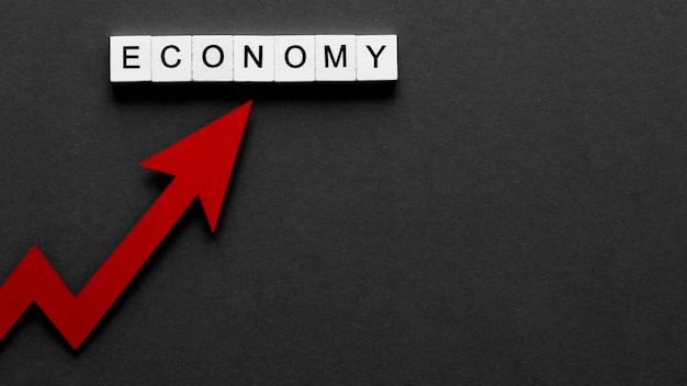 Composizione astratta della crisi finanziaria con copia spazio