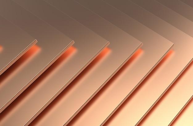 Lo sfondo astratto del modello di rame. illustrazione 3d.