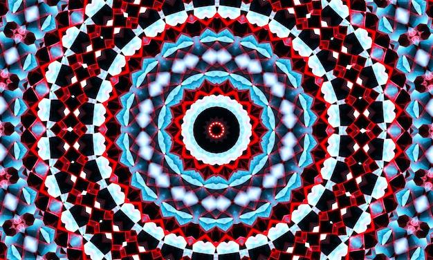 Modello di caleidoscopio creativo astratto senza cuciture con triangoli di pennellate. sfondo colorato per la stampa di brochure, poster, biglietti, stampe, tessuti, riviste, abbigliamento sportivo. design moderno alla moda.