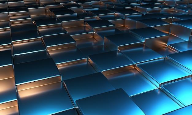 Rendering 3d di sfondo astratto blocchi cubo
