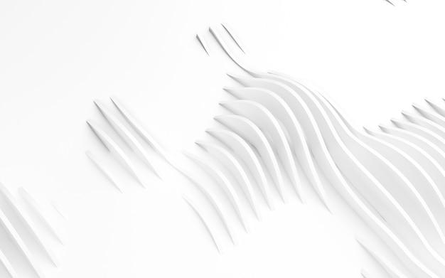 Forme curve astratte. sfondo bianco circolare. sfondo astratto. illustrazione 3d