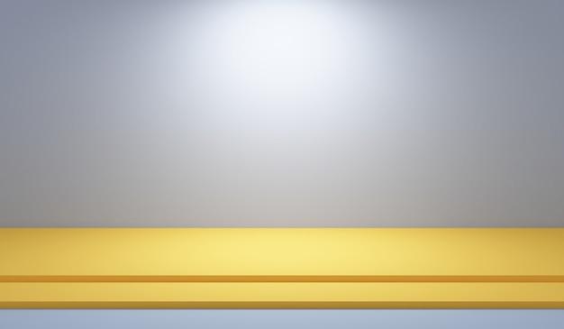 Grigio scuro astratto con la stanza vuota dello studio della carta da parati bianca del fondo di pendenza utilizzata per il modello del sito web dell'annuncio del prodotto dell'esposizione, illustrazione 3d