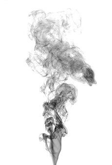 Fumo scuro astratto su sfondo chiaro
