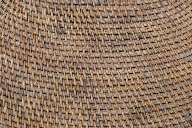 Tessitura di cesto con texture di legno decorativa astratta