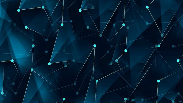 Sfondo digitale astratto che collega punti e linee
