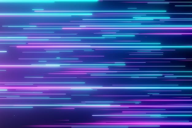 Linee al neon direzionali astratte fondo geometrico