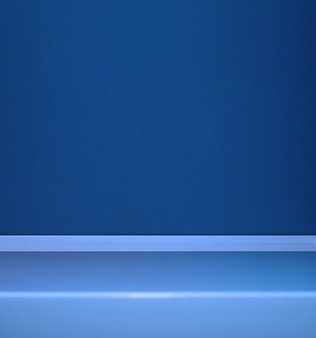 Astratto sfondo blu vuoto scena per la pubblicità di annunci cosmetici vetrina presentazionesito web