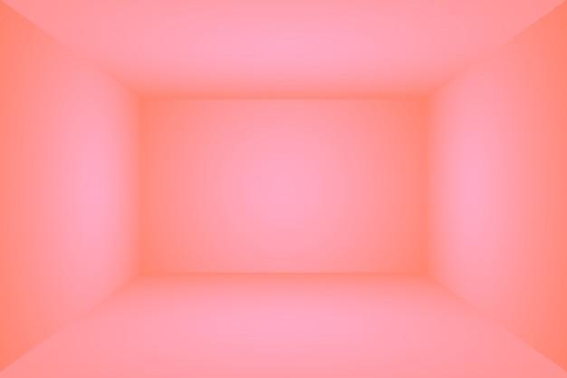 Fondo rosa-chiaro liscio vuoto astratto della stanza dello studio