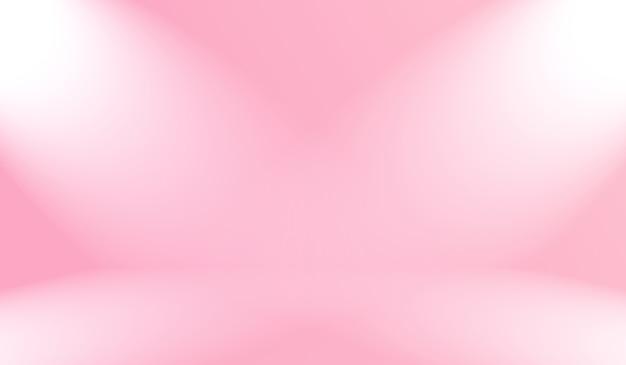Fondo rosa chiaro liscio astratto della stanza dello studio vuoto