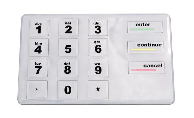 Rendering 3d della tastiera dell'interfaccia utente piatta astratta