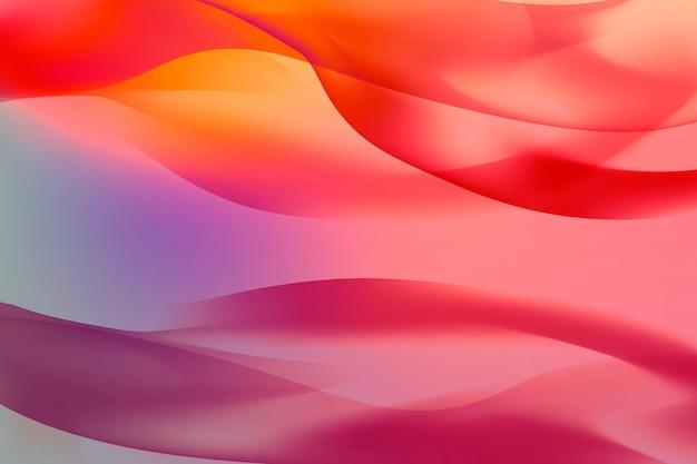 Linee rosse fluttuanti astratte modellate sullo sfondo