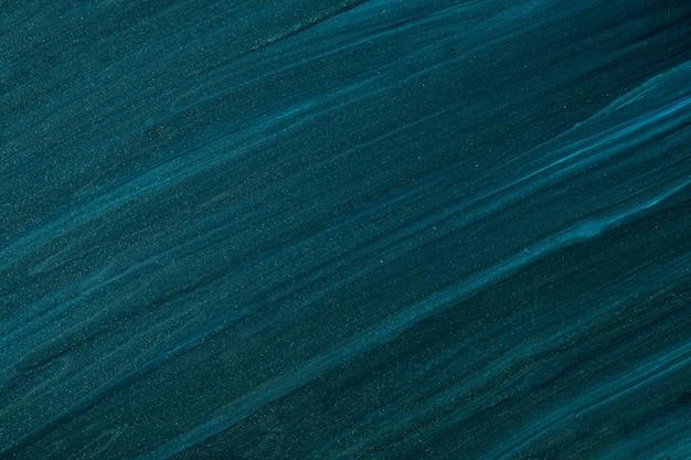 Colori blu navy del fondo di arte fluida astratta. marmo liquido. dipinto acrilico su tela con sfumatura smeraldo. fondale acquerello con motivo a righe. carta da parati in pietra.