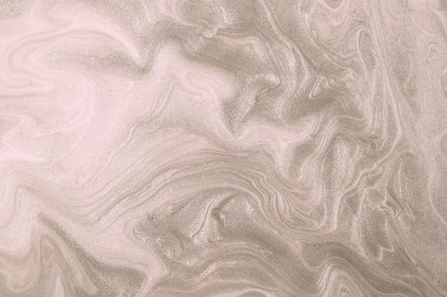 Fondo di pittura acrilica di marmo liquido marrone e beige fluido astratto