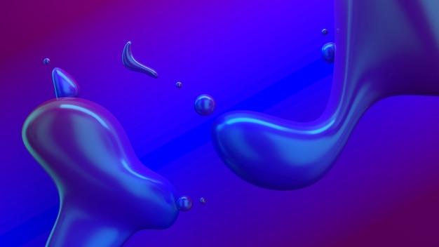 Sfondo di forme fluide astratte
