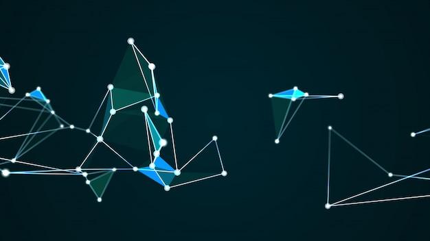 Grafico futuristico astratto di tecnologia digitale di internet della struttura della molecola