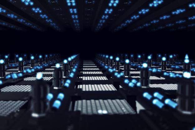Superficie futuristica astratta, corridoio infinito
