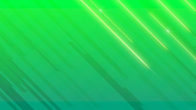 Linee geometriche astratte di lucentezza blu e verde, sfondo retrò. stile di illustrazione 3d elegante e di lusso per modello aziendale e aziendale