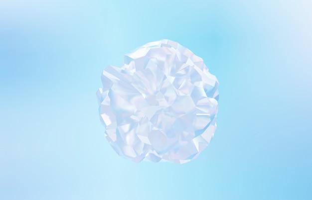 Sfondo astratto cristallo geometrico, trama iridescente, gemma sfaccettata, liquido. rendering 3d.