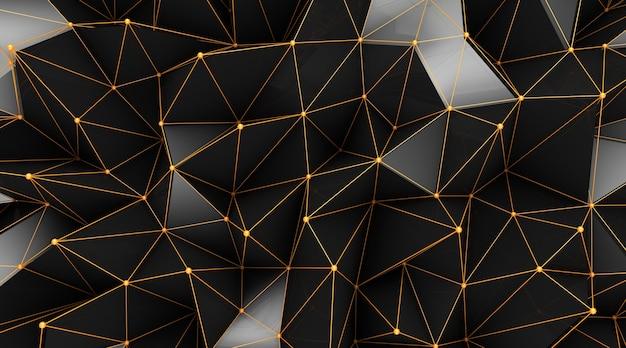 Carta da parati geometrica astratta del poligono.